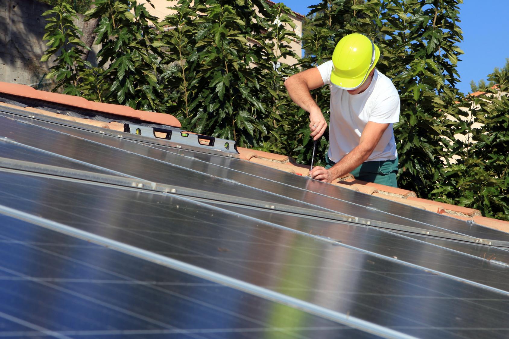 Pose de modules photovoltaïque sur une maison individuelle