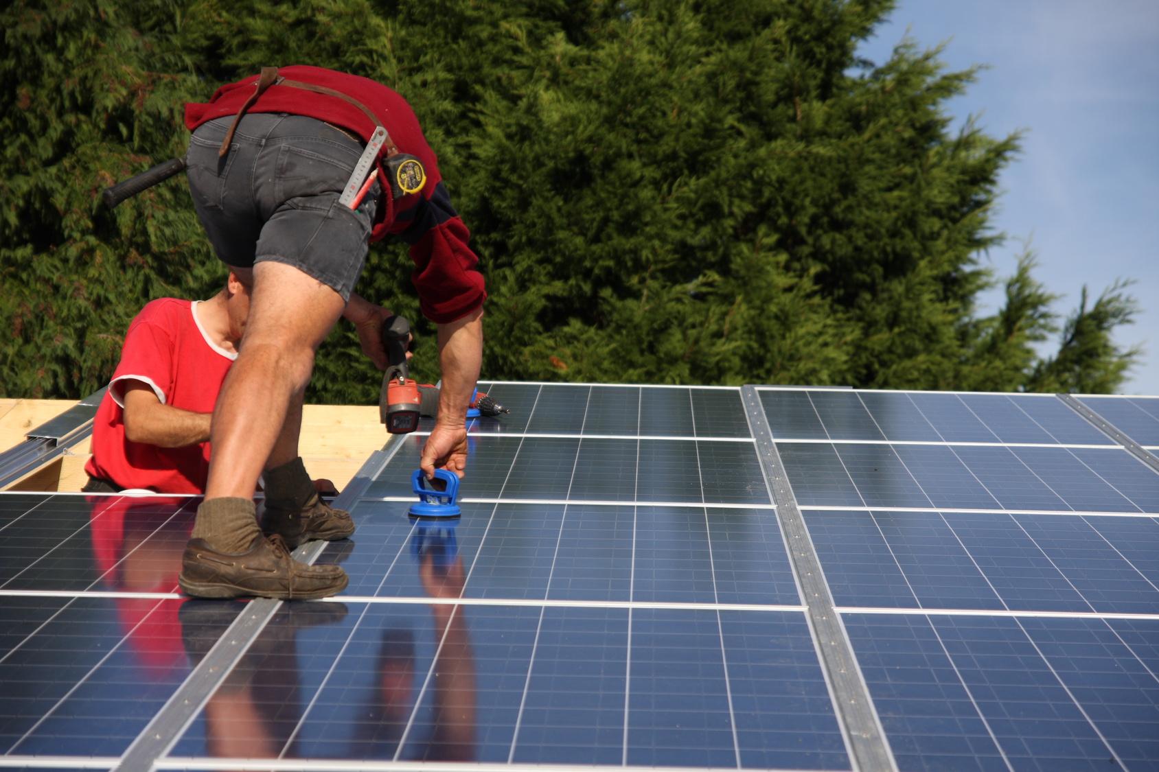 Installation de panneaux solaires photovoltaïque