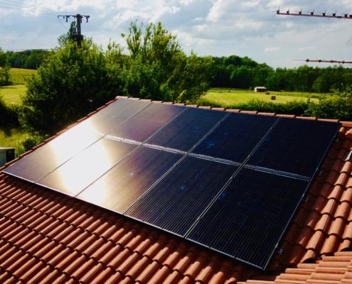 panneaux solaire à Attignant