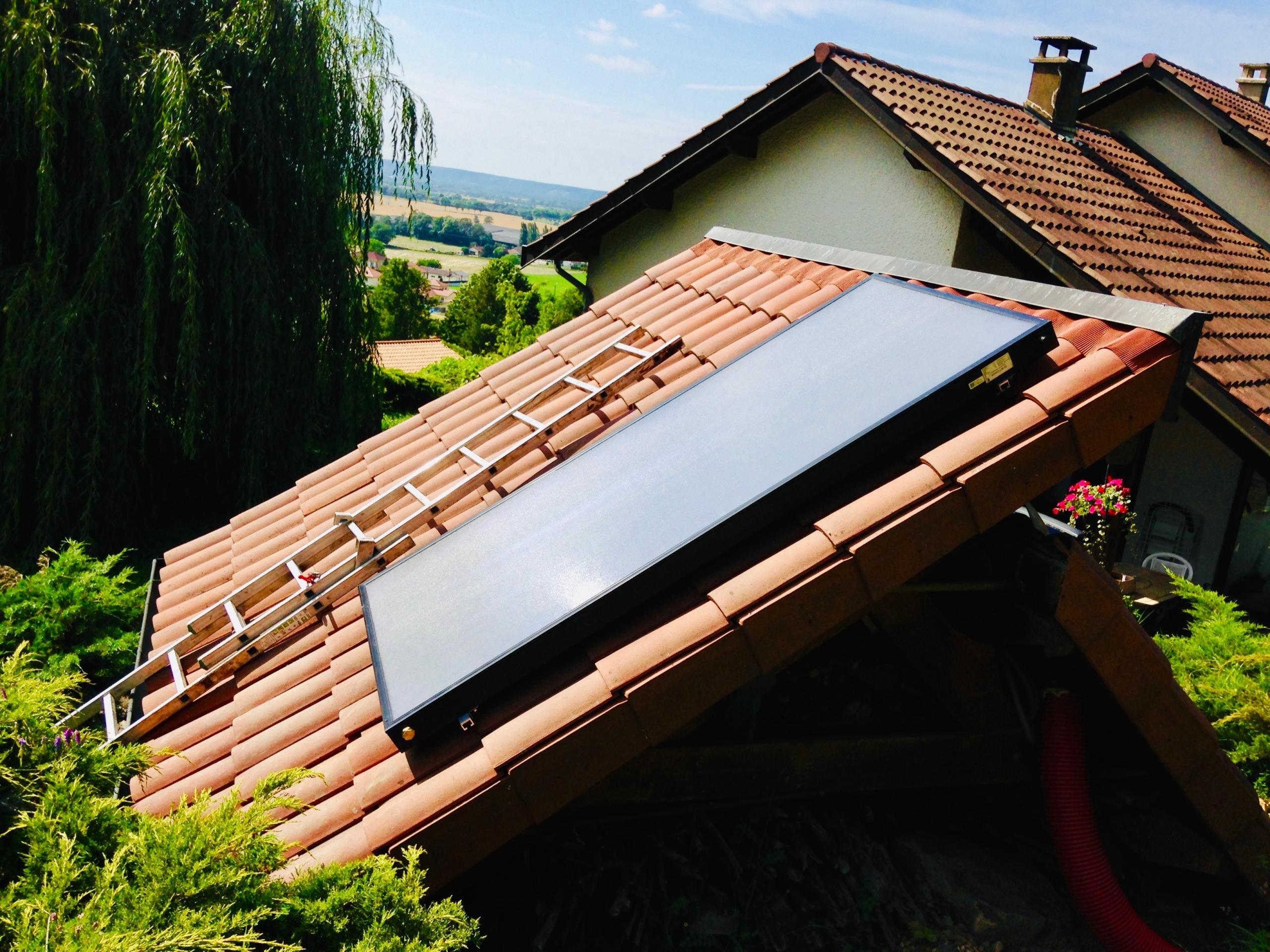 Panneaux solaires à Vaux en Bugey